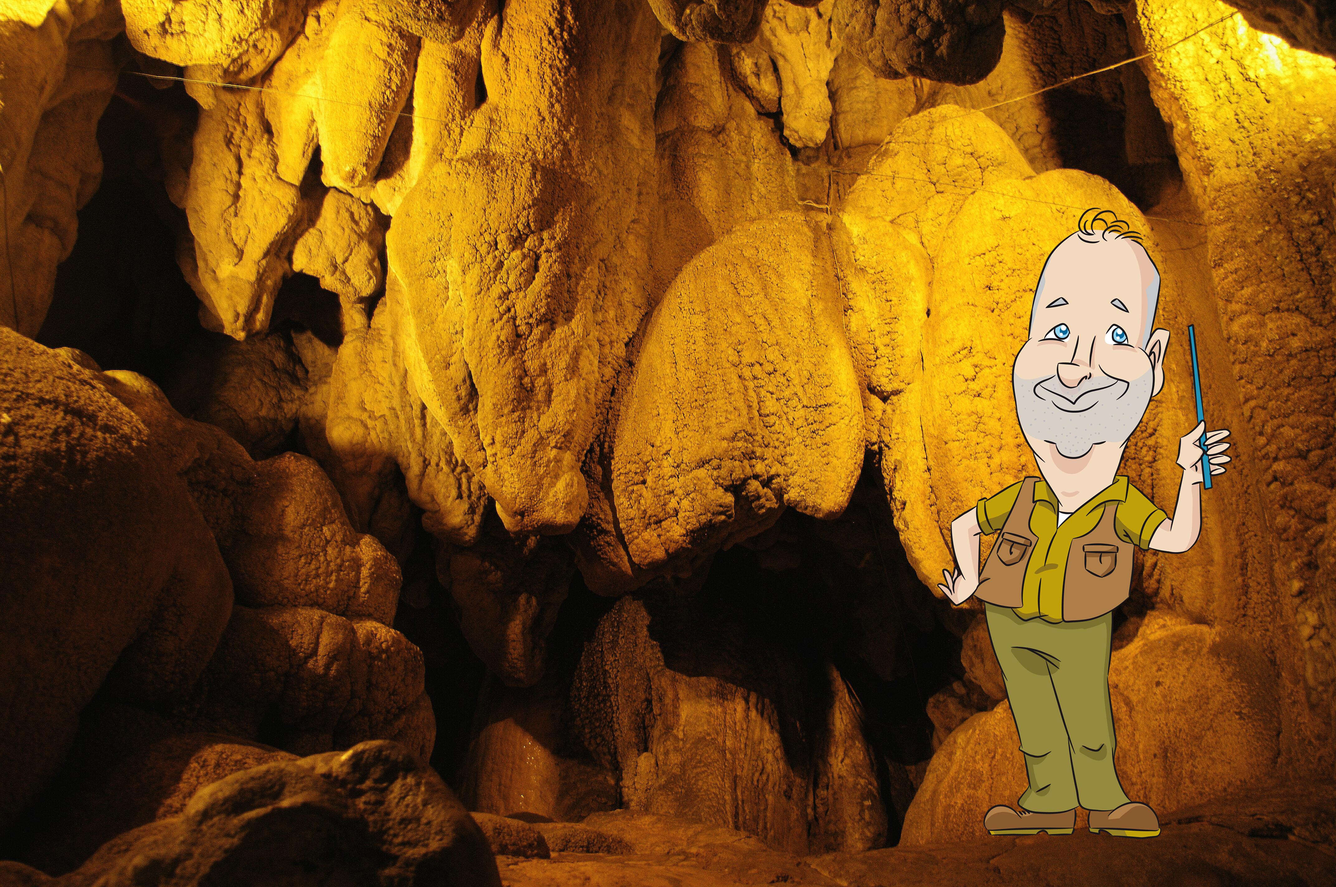 La particolare formazione delle Grotte di Rescia